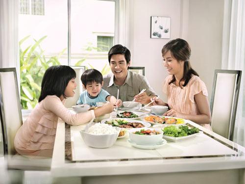 bữa ăn trong gia đình