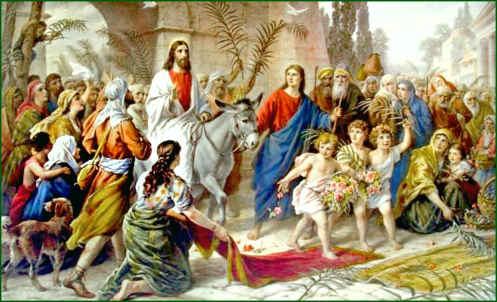 Chúa Nhật lễ lá diễn ra trước lễ Phục sinh một tuần