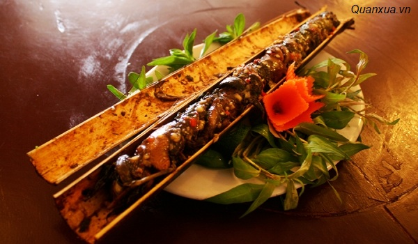 Lươn nướng ống vầu
